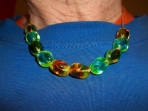 Radiant Beads made from traditional Czech Republic 2% Uranium Glass. They are 6 uSv/hour.