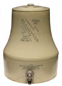 Revigator (1918) is a jug lined with Carnotite Uranium Ore.